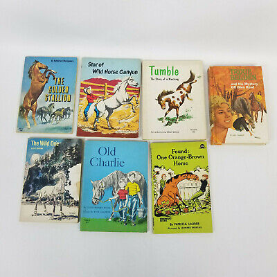 7 Vintage Books About Horses from 1950's, 60s and 70's