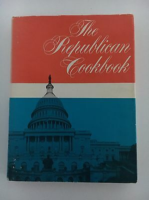 Vintage Mid Century 1969 National Republican Cookbook -Great Photos!