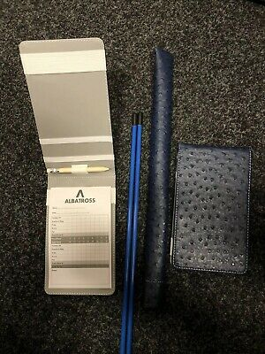 Ostrich Tour Issue Scorecard Holder And Alignment Stick Cover Plus 2 Free Sticks