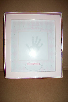 Giftable Shadowbox Handprint Kit Keepsake Hand Print Baby Girls  NEW!