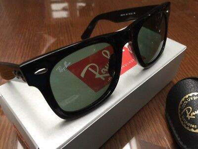 RAY BAN WAYFARER CLASSIC Black RB2140 54/18 (901) Larger