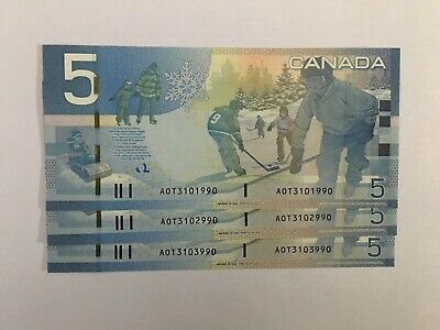 3 BC-67aA AOT(3040-3160) INSERT REPLACEMENT CHOICE UNC banknotes from BOC bricks