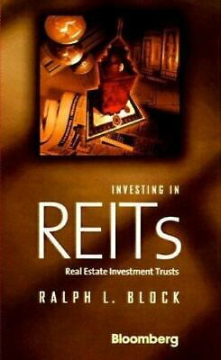 Real Estate Investment Trusts by Ralph L. Block (Hardcover, 1998) dust jacket