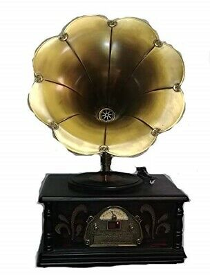 Victorian Trading Co Edwardian Entertainment Gramophone CD Record Player Radio