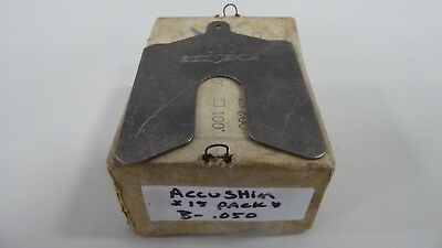 "Accushim B-.050 Slotted Shim 0.050"" B050 (Pack of 15)"