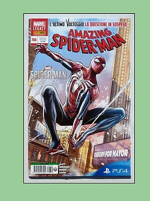 Amazing Spider-Man 705 Uomo Ragno Sony Ps4 - Marvel Legacy Panini Comics - Nuovo