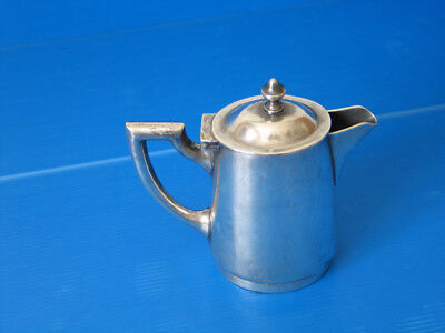 "Vintage Art Deco Gebr.hepp.90 Silver Plated Milk Cream Pitcher 6""H"