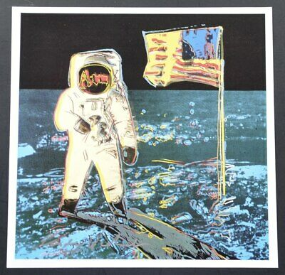 """Andy Warhol, Special Print """"Moonwalk"""".  Hand signed by Warhol, includes COA."""