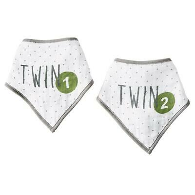 Twins Bandana Bibs - Twin 1 and Twin 2
