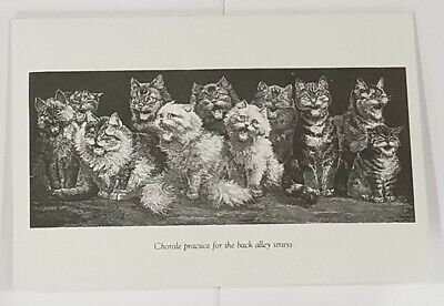 Victorian Trading Co. Cat Lover Notecards Alley Cat Strays Singing (PKG of 8)