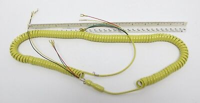 New Telephone Handset Cord - 12' Yellow Spaded