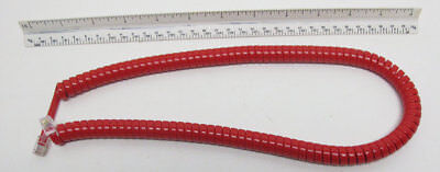New Telephone Handset Cord - 12' Bright Red Modular