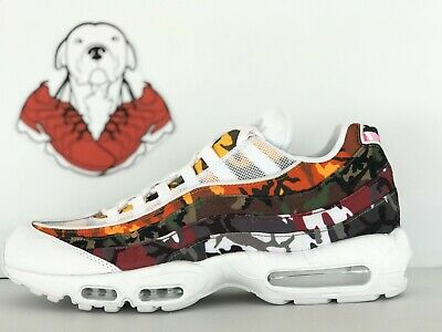 fdfd809905ebe NIKE AIR MAX 95 ERDL Party White Multi-Color Camo Print NSW Sneakers ...