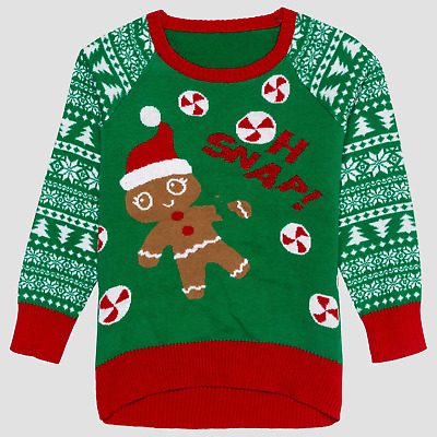 c2faf7dff44b3 WELL WORN Infant Girls  Gingerbread Oh Snap Ugly Christmas Sweater 12 Months