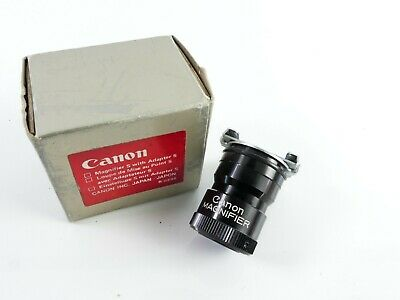 Original Canon Magnifier S With Adapter S With Box   I