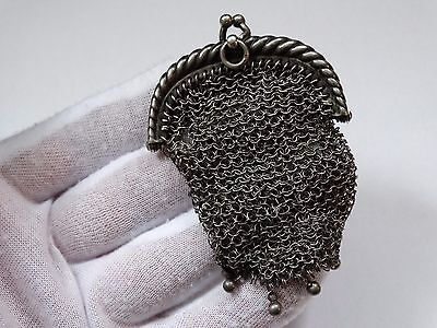 antique silver purse small size purse very rare weighs about 27.8 grams