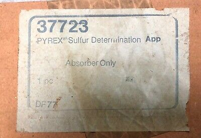 Pyrex Sulfur Determination Apparatus - Absorber Only Chemistry Lab Glassware