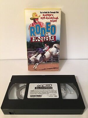 RODEO BLOOPERS By GOODTIMES HOME VIDEO 1997 VHS Tape Auction Finds 702