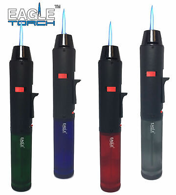 Eagle Torch Pen Gun Torch Lighter Butane Refillable Semi Transparent Tank 2 Pack
