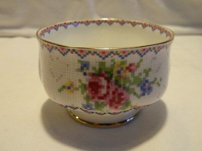 Royal Albert Bone China Petit Point Sugar Bowl England