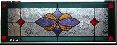 """Beautiful  Stained glass Transoms  10"""" x 36""""  Wow SG 1011"""