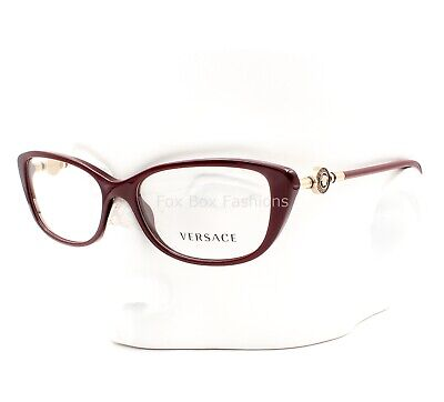 5c2ef536e16f6 VERSACE MOD 3206 5105 Eyeglasses Optical Frames Glasses Bordeaux Burgundy ~  52mm
