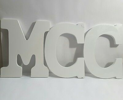 White Wooden Letters Wall Hanging Nursery Home Office Art Decoration M G G