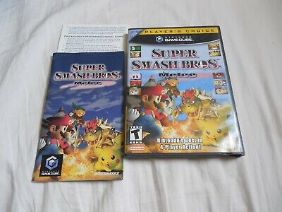 Nintendo Gamecube Super Smash Bros Melee Case & Manual No Game Original