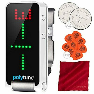 TC Electronic PolyTune Clip Polyphonic Clip-On Tuner and Basic Accessory Bundle