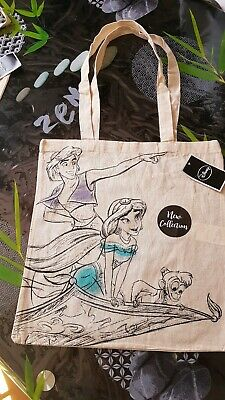 New Disney Aladdin Tote Bag Jasmine Apu