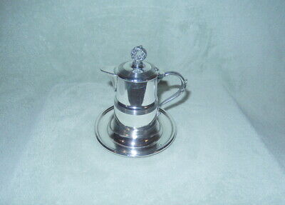 Vintage Apollo Silver Co Silverplate Creamer w/ Attached Base & Lid +Spout