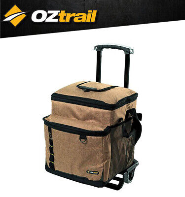 Oztrail 60 Can Wheeled Collapsible Cooler Camping Beach BBQ Outdoors Sport