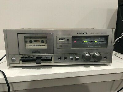 Vintage Sony Stereo Cassette Tape Deck RD 10 Wood ~ Tested PLS READ
