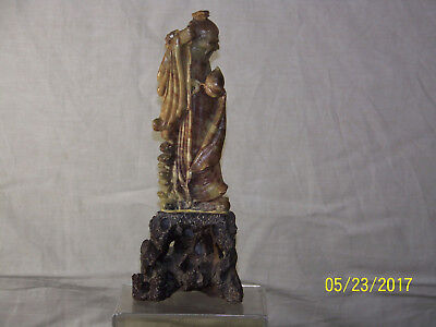 Antique Chinese Qing Dy Carved Stone Statue Sculpture