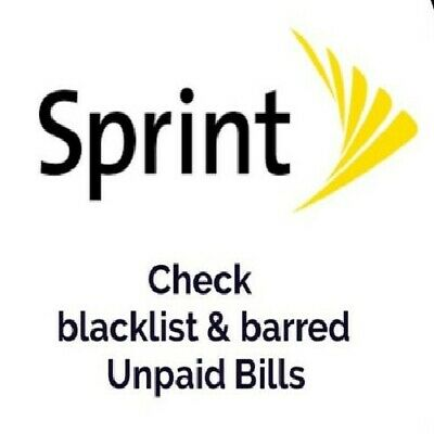 SPRINT USA IPHONE/ALL Brands imei Cleaning SPCS: Yes Only