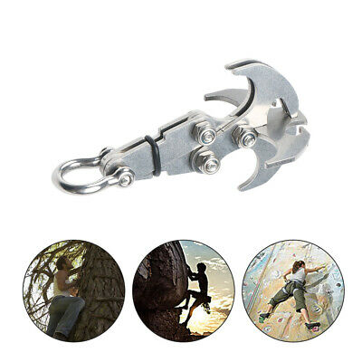 Multifunction Stainless Steel Gravity Hook Foldable Grappling Climbing Claw #D