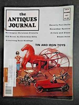 Antiques Journal 1977 Norwegian Christmas Baking Utensils Kitchen Tin Iron Toys