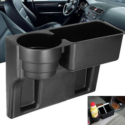 1PC Black Cup Holder Drink Beverage Seat Seam Wedge Universal Car Truck Mount