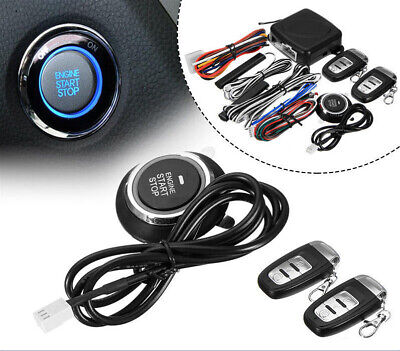 9 in1 Start Push Button Remote Starter Keyless Entry Car SUV Alarm System Engine