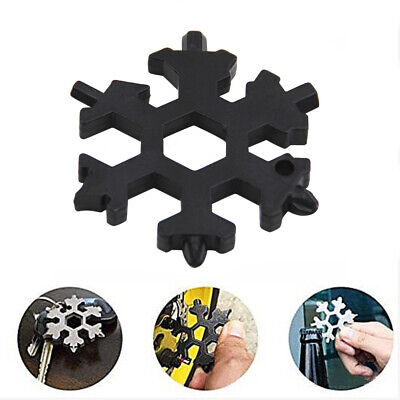 Stainless Steel Snowflakes Multi-tool Card Screwdriver Wrench Bottle Opener #D