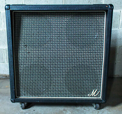 1970s Marshall Big M 4 x 12 Guitar Speaker Cabinet Celestion G12H-80 with Cover
