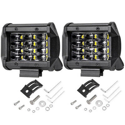 2X 72W LED Car SUV Truck Work Light Offroad Bumper Driving Headlights Universal