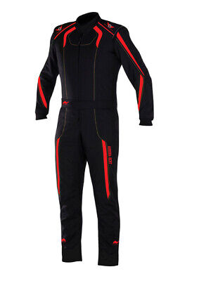 Fireproof Aurora-FP1 Single Layer PROBAN Race Suit BLACK/RED -Mega sale offer