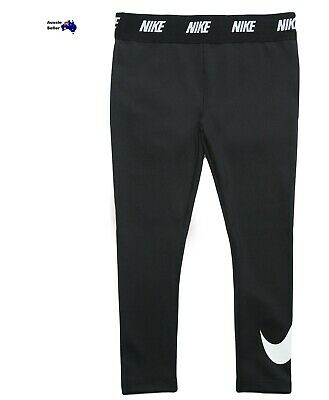 New Nike Girls Toddler Kids Printed Swoosh Leggings Bottoms Black 36B293-023