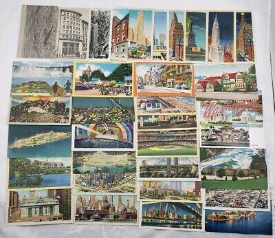Vintage 35 Postcards New York Alcatraz Grand Central Coney Island California