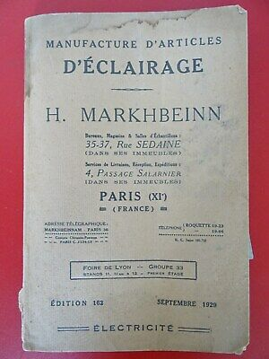 ancien catalogue LUMINAIRES MARKHBENIN art déco bauhaus light lamp catalog 1929