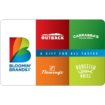 Outback Steakhouse Physical Gift Card - FREE 1st Class Mail Delivery - Sealed