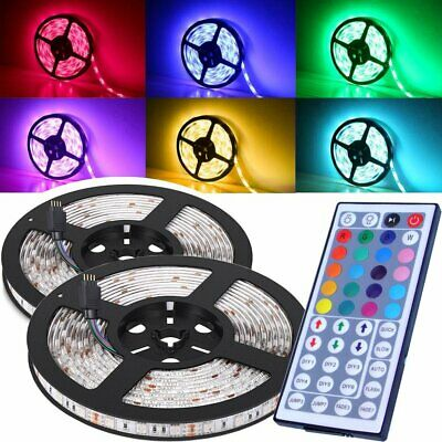 IP65 Waterproof 300 LEDs 5M 5050 RGB LED Strip Lights 12V + 44 key IR Controller