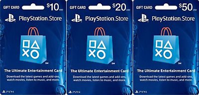 Sony PlayStation Store Physical Gift Card - FREE 1st Class Mail Delivery -Sealed