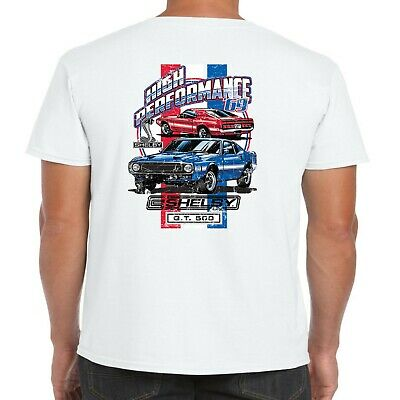 Mens Ford Mustang Carroll Shelby T Shirt American Performance GT 500 Muscle Car